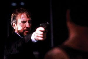 Bruce Willis e Alan Rickman in Die Hard (1988)