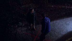 Gillian Anderson e David Duchovny in The X Files (1993) pilota