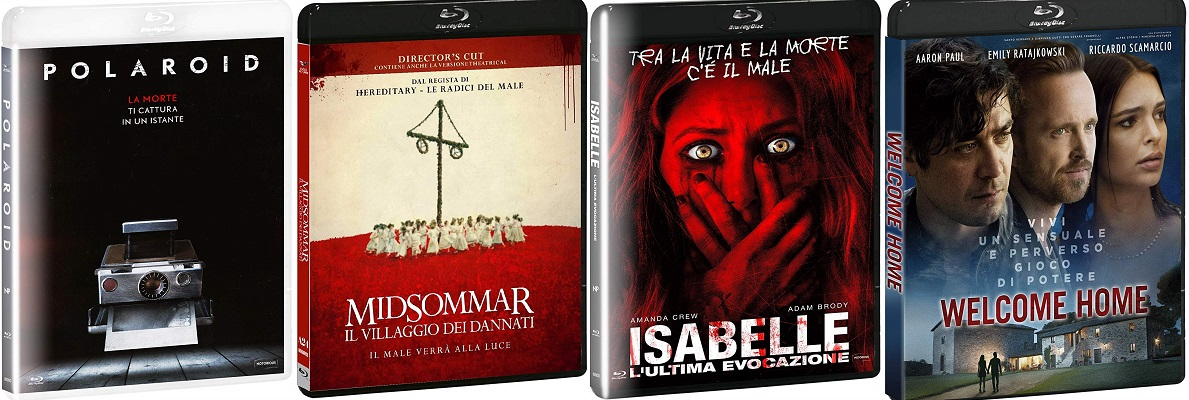polaroid + midsommar + welcome home + isabelle bluray ita