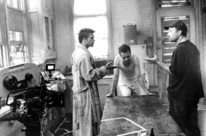 Brad Pitt, David Fincher e Edward Norton in Fight Club (1999)