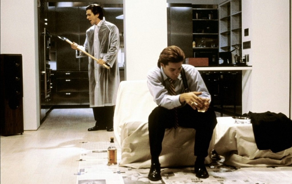 Christian Bale e Jared Leto in American Psycho (2000)