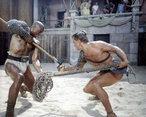 Kirk Douglas, Laurence Olivier, Nina Foch, John Dall e Woody Strode in Spartacus (1960)