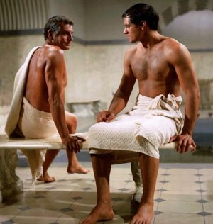 Laurence Olivier e John Gavin in Spartacus (1960)