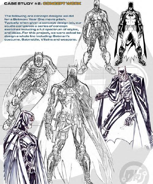 batman anno uno David Williams concept 6