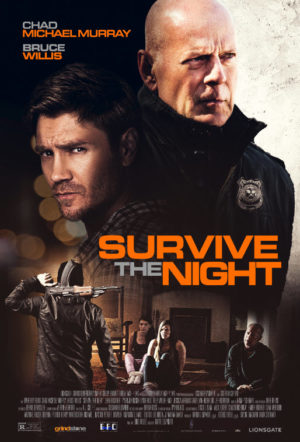 Survive the Night (2020) film willis poster