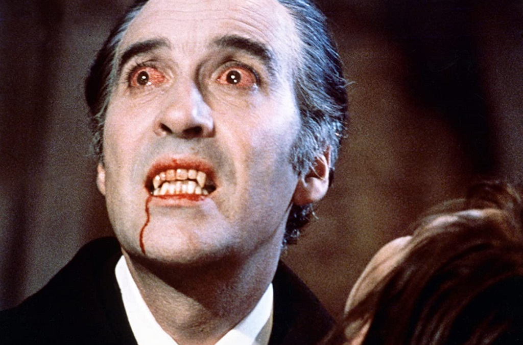 Christopher Lee in dracula 1958