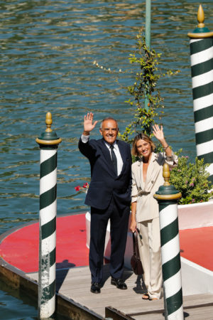 Anna Foglietta e Alberto Barbera venezia 77