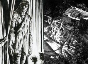 Bernie Wrightson disegni Frankenstein