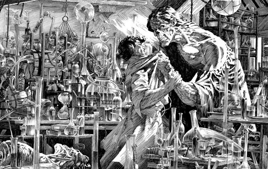 Bernie Wrightson disegno Frankenstein