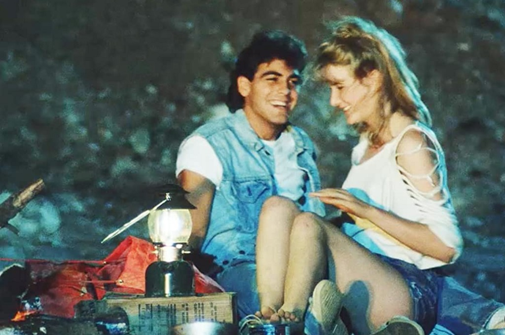 George Clooney e Laura Dern in Grizzly II The Predator (1983)