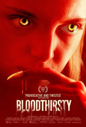 Bloodthirsty film poster 2021