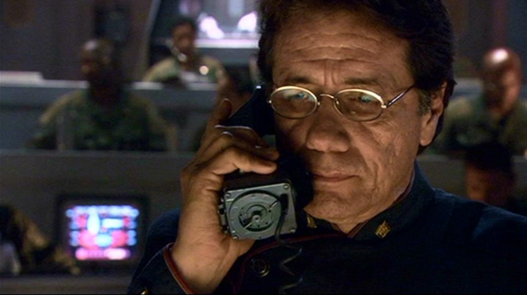 Edward James Olmos in Battlestar Galactica