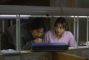 Nanako Matsushima e Hiroyuki Sanada in Ringu (1998)