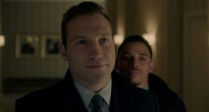 Jai Courtney and Anthony Ramos in Honest Thief (2020)