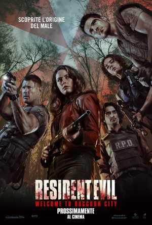 RESIDENT EVIL WELCOME TO RACCOON CITY film poster 2021